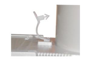 Détail clips de maintien fléxible CS3-PL