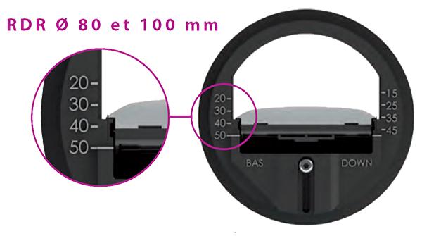 RDR 80 & 100 - Exemple réglage à 50 m3/h