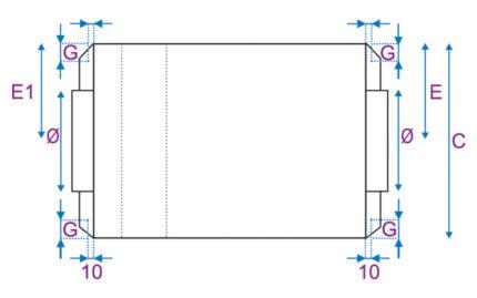 Dimensions CEP/CEP-BC - Dessus