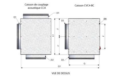 Dimensions CVC4-BC - Vue de dessus