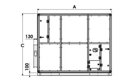 Dimensions EXAECO 10 et 13 - Vue de côté