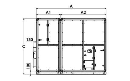 Dimensions EXAECO 17 et 22 - Vue de côté