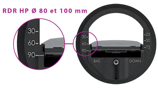 RDR-HP 80 & 100 - Exemple réglage à 90 m3/h