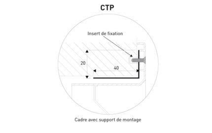 Détail contre cadre CTP KGA 50